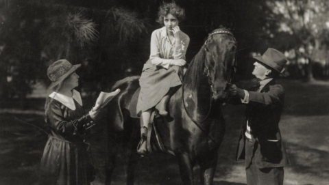 Alice directs Bessie Love in Spring of the Year