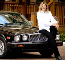 Elaine Viets with her car, Black Beauty