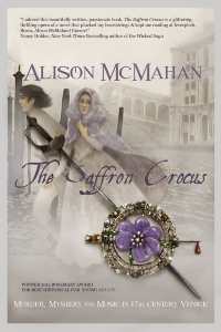 The Saffron Crocus Book Cover, art by Mishi Bellamy